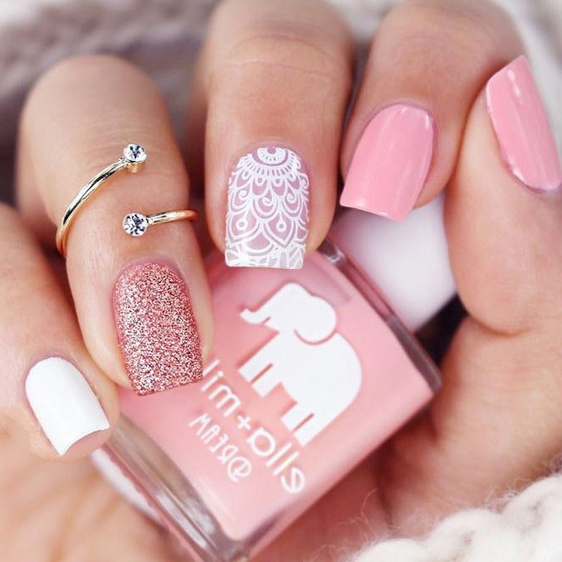 So Beautiful Try It 17 Girly Nail Designs That Easy To Try Nailart Nails Fashion Beauty Cute Square Nail Designs Pink Nails Nail Charms
