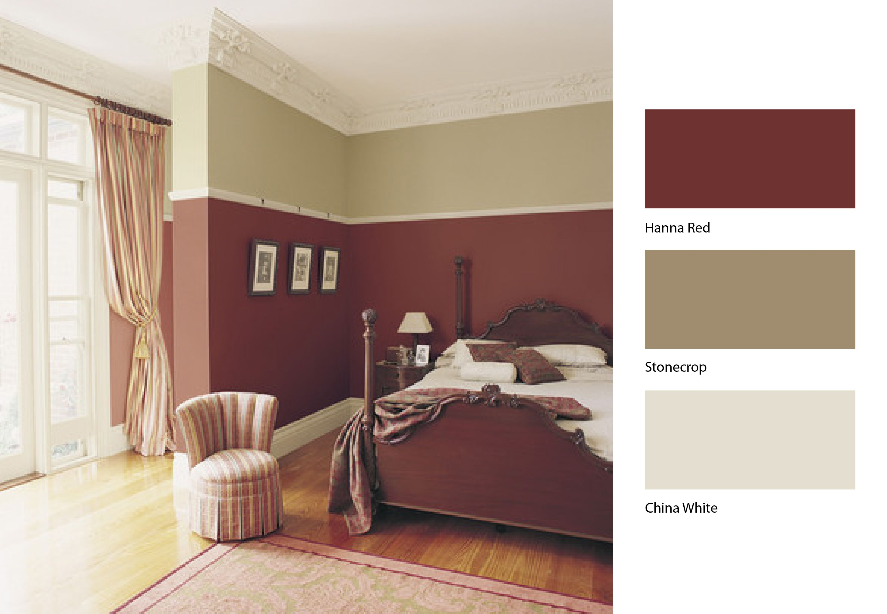 These rich colours from dulux can add a touch of warmth for Dulux paint ideas bedroom