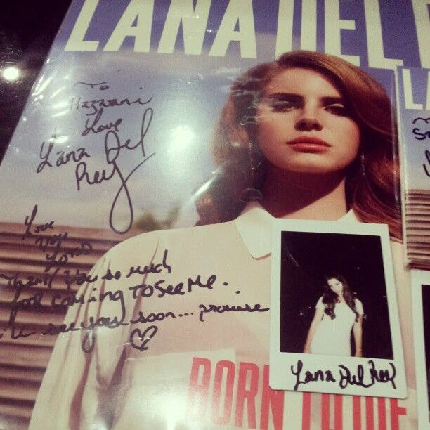 Born To Die Vinyl Signed By Lana With A Special Heartfelt Message Addressed To Me 3 Lana Del Rey Vinyl Signs Vintage Videos