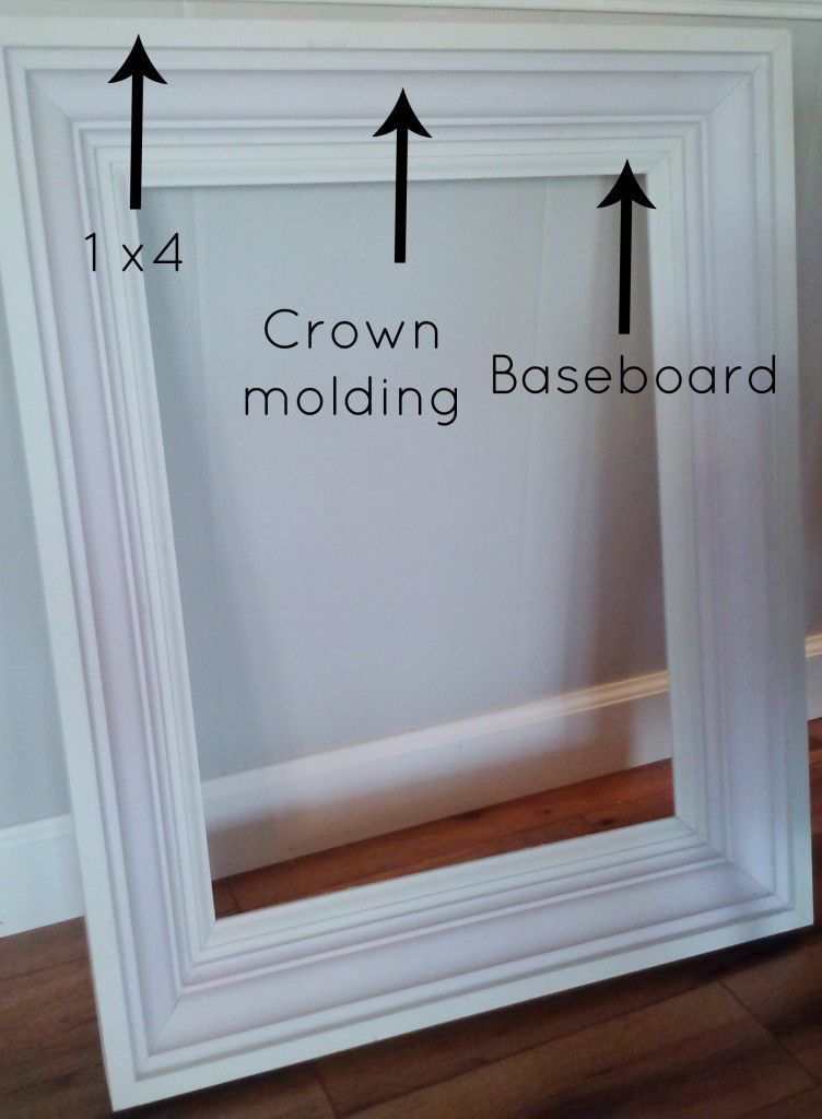 Crown Molding Frame Large Picture Frames For Tv Diy Mirror