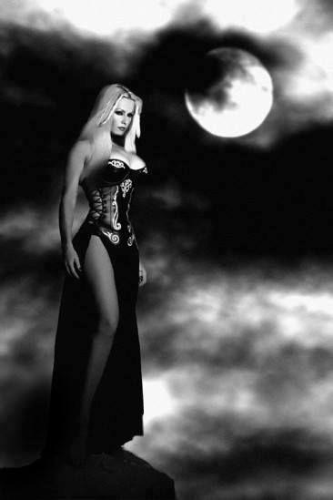 Dark gothic witch girls