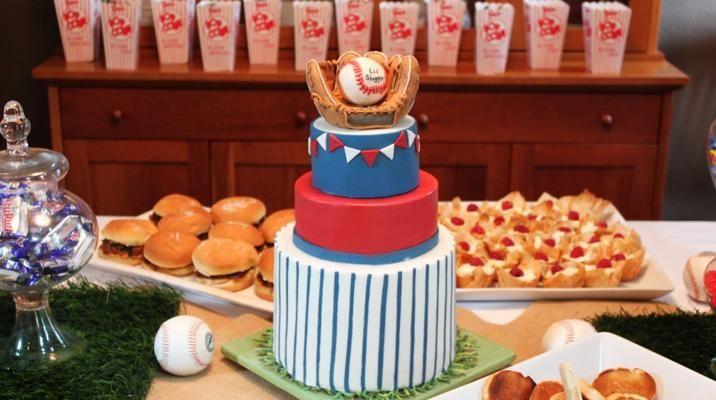 baseball themed baby shower invitation