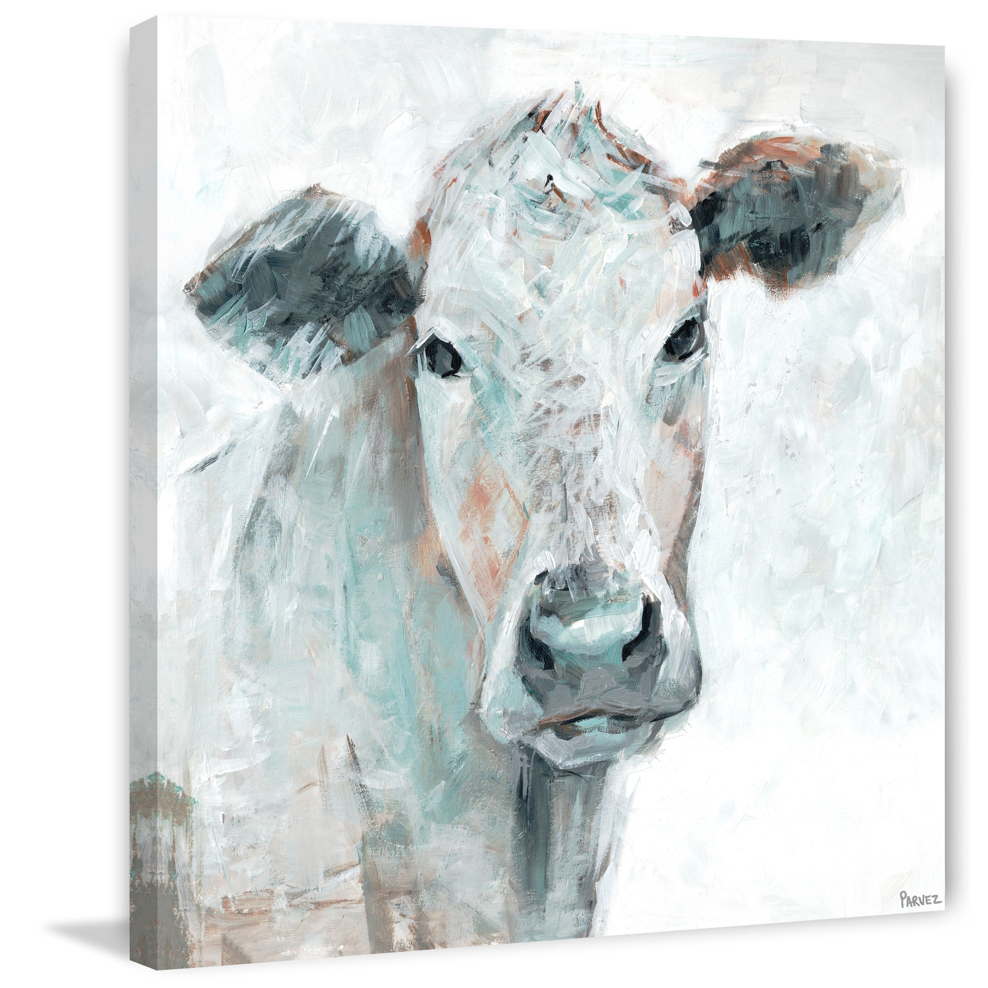 The Gray Barn Empire Cow Groove Wrapped Canvas Print In 2020