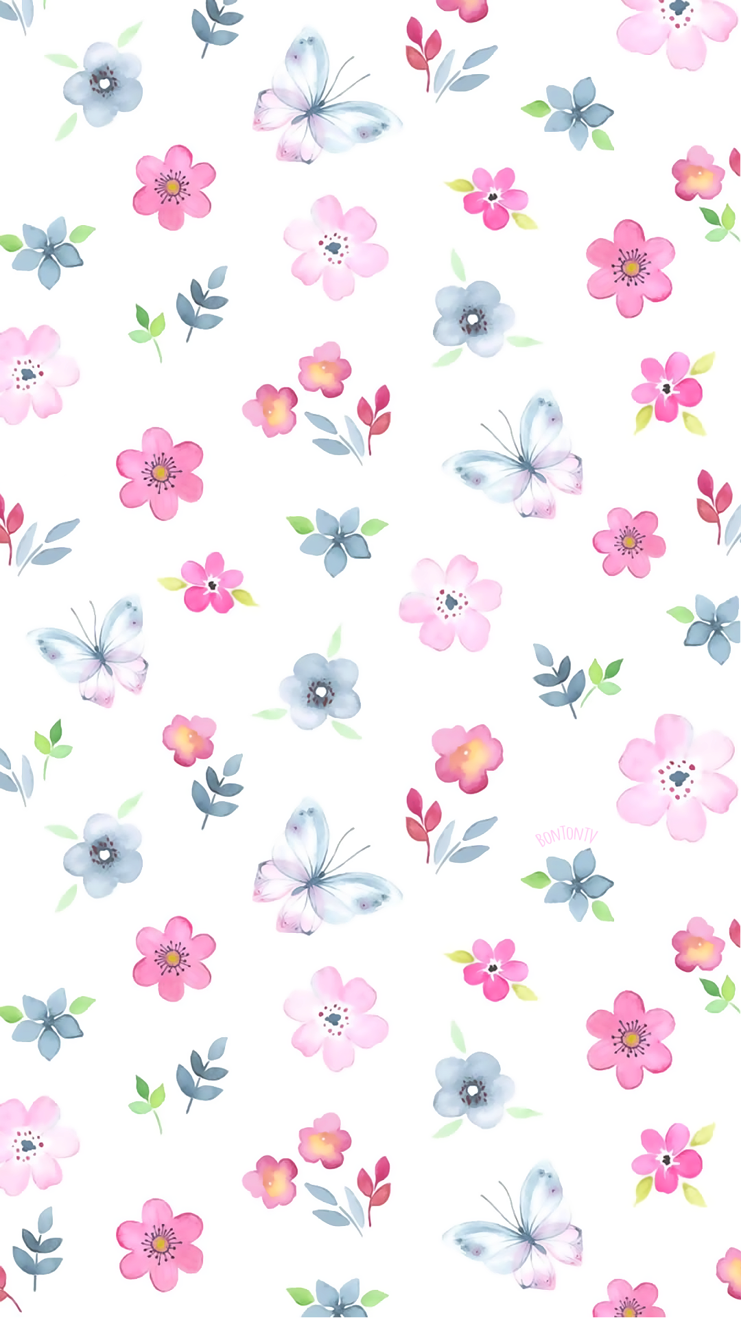 Phone Wallpapers HD Watercolor Cute Pattern by BonTon TV