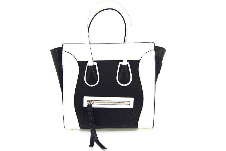 Celine Bag Zwart Wit Imitatieleer