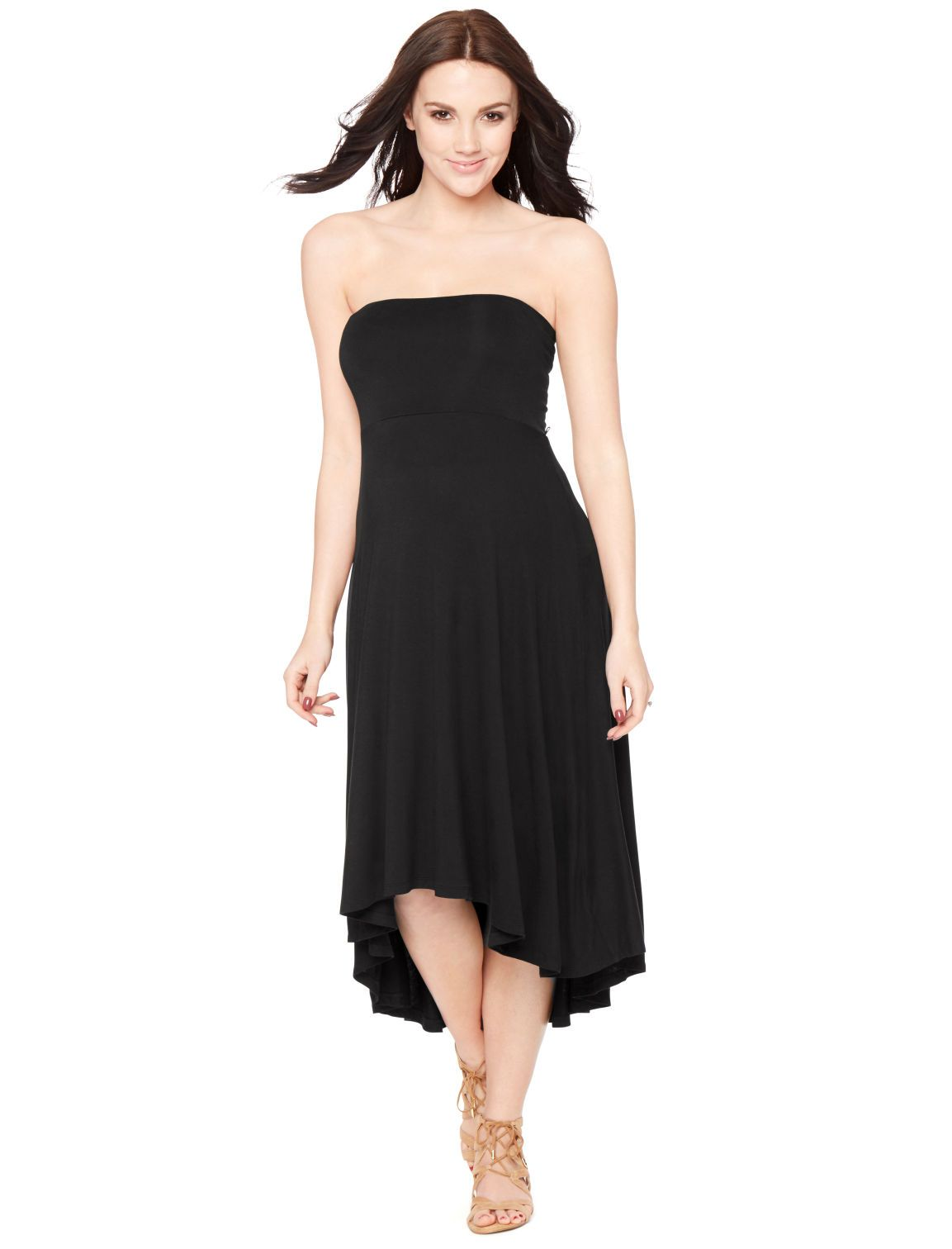 cba2667ef5 Motherhood Maternity Strapless High-low Hem Maternity Dress