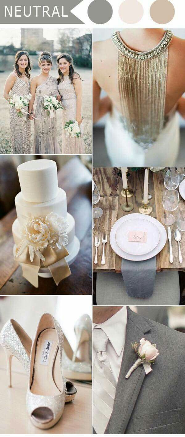 Celebrating | Neutral wedding colors, 2017 wedding trends ...