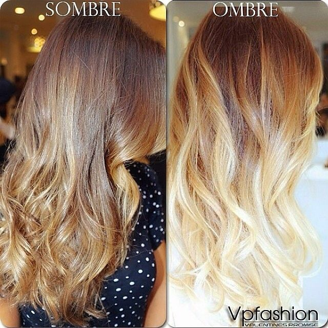 ombre hair brown to blonde