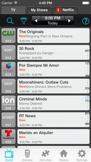 NextGuide Remote with Free TV Guide, Netflix Queue Management and