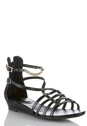 fd3faab47 Cato Fashions Strappy Chain and Stud Gladiator Sandals  CatoFashions ...