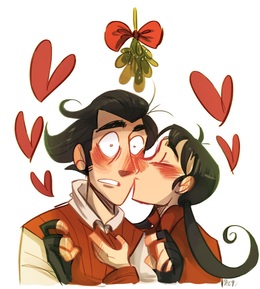MERRY CHRISTMAS EVERYBODY! Have a drawing of Willow and Wilson under the mistletoe! *did i mention that i really ship these two?*