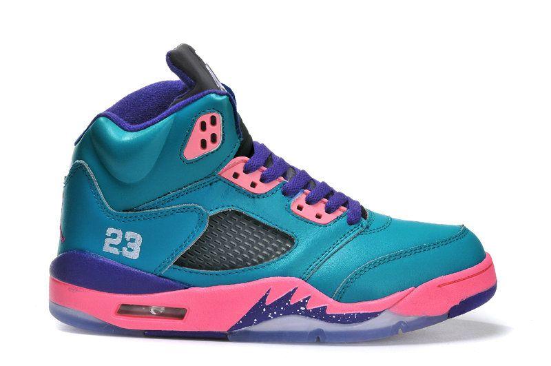 a62b1206d6b9 Air Jordan 5 GS Tropical Teal White Digital Pink Court Purple 440892 ...