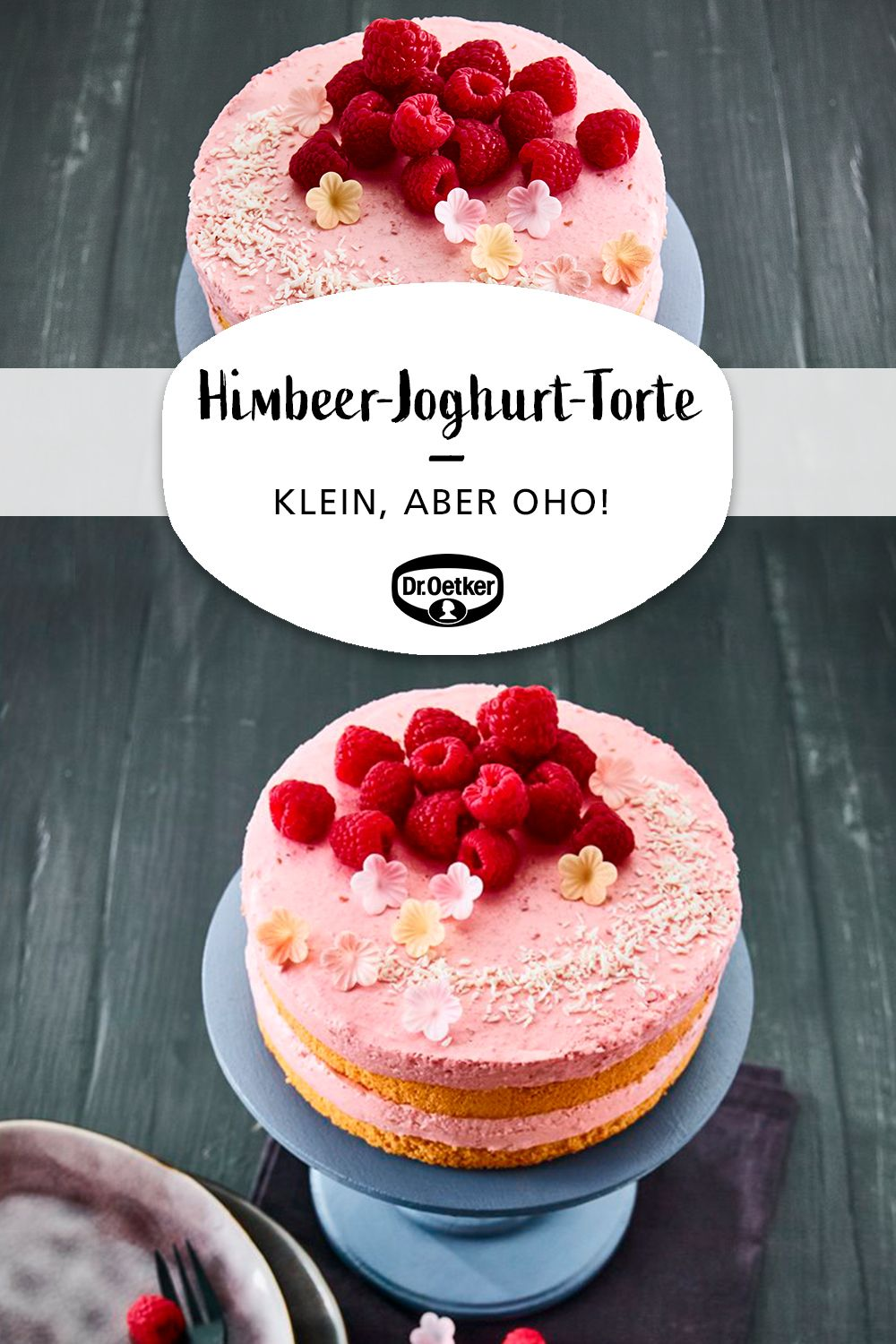 Photo of Kleine Himbeer-Joghurt-Torte mit Kokos