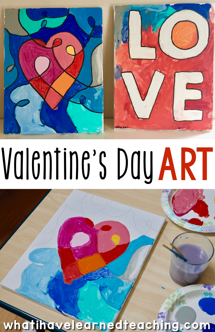 valentine 39 s day art activities for elementary school iteach third valentine activities art. Black Bedroom Furniture Sets. Home Design Ideas