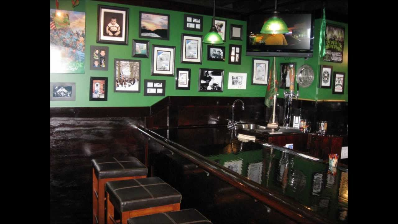 my basement irish pub. basement bar. man cave. build your own home