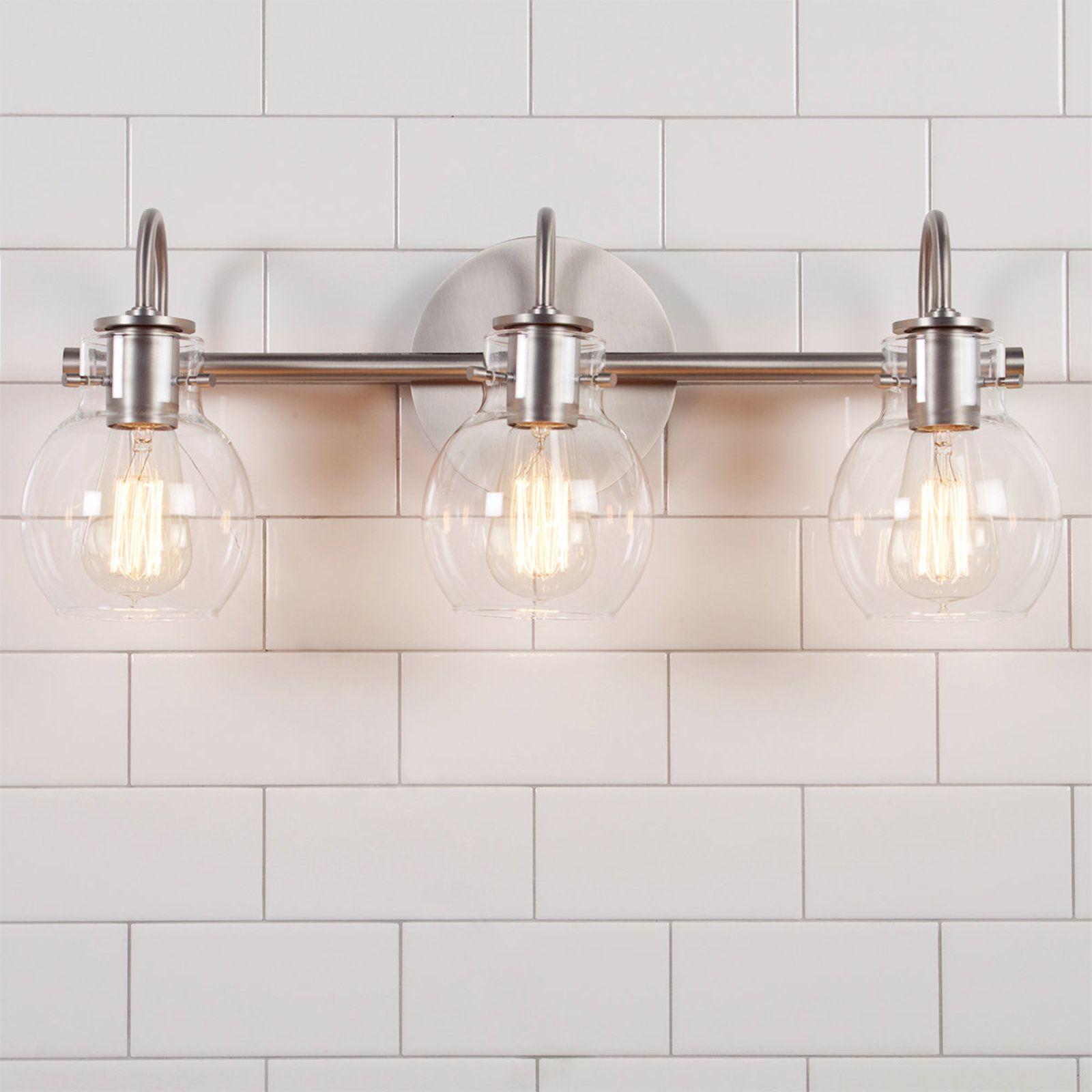 Vintage Arc Shade Bath Light 3 Light Atx Guest Bath Pinterest