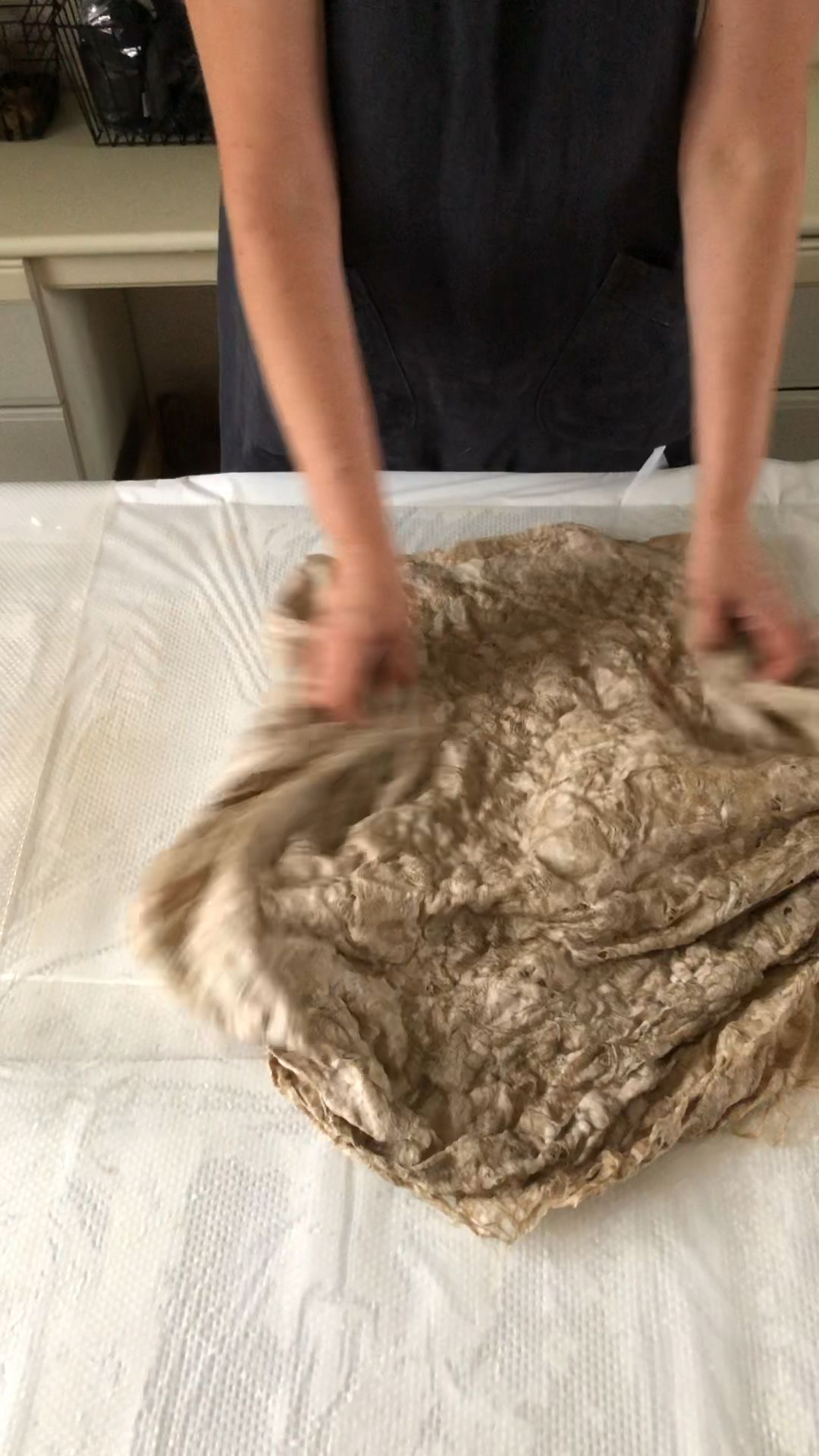 Nuno felting process