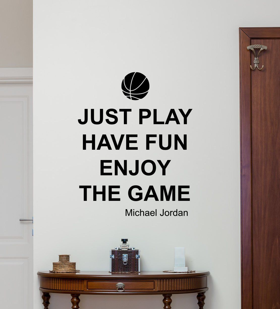 Michael jordan quote wall decal sport air basketball poster michael jordan quote wall decal sport air basketball poster stencil gym wall vinyl sticker kids teen amipublicfo Choice Image