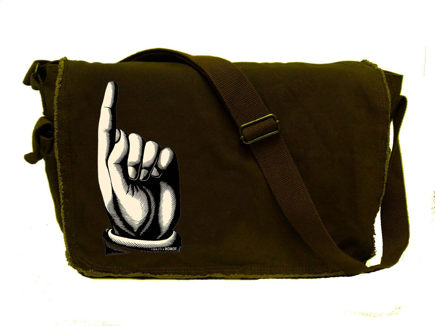 This is one cool cat Large - java - raw edged MESSENGER BAG. $35.00, via Etsy.