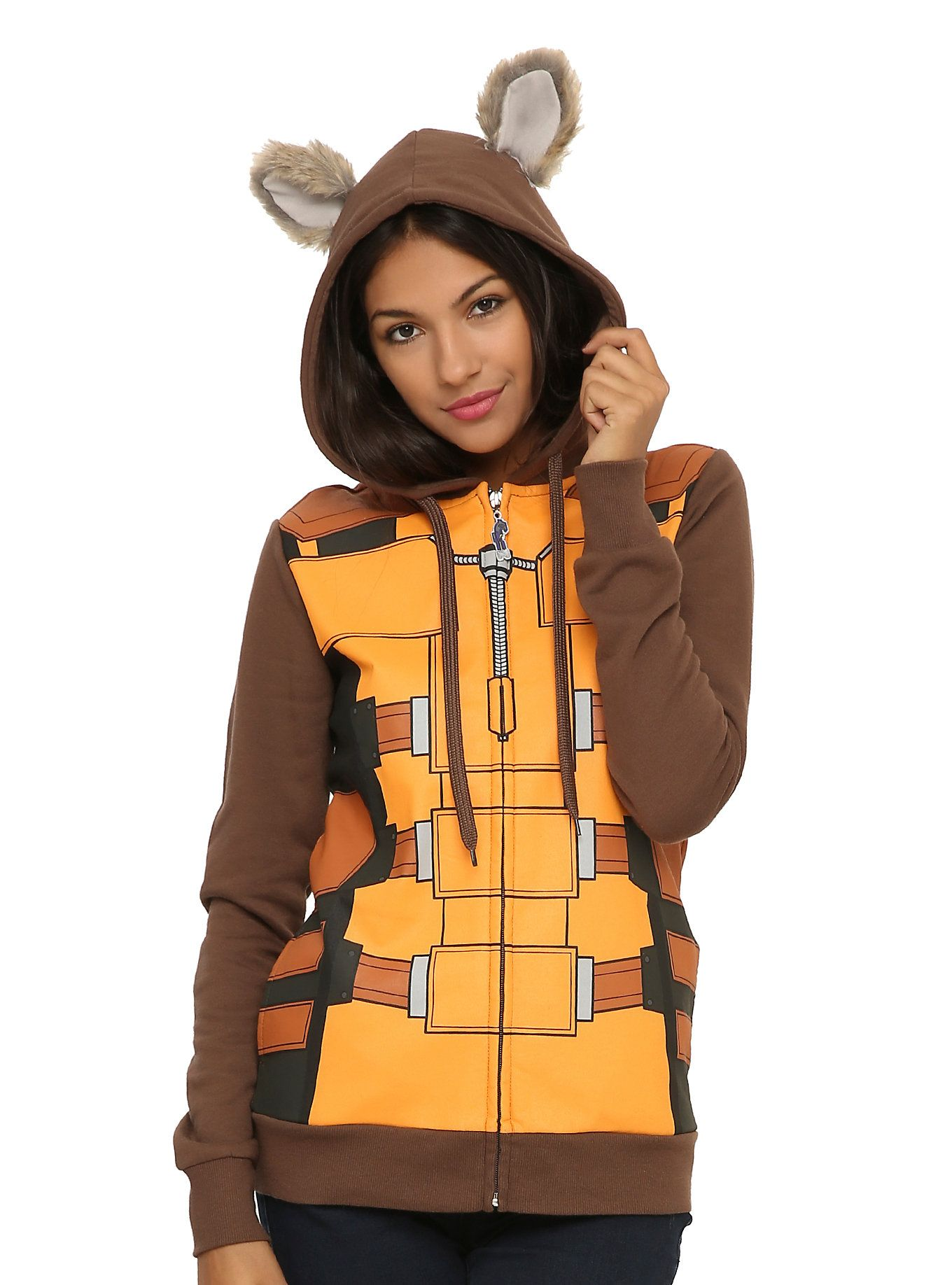 Marvel guardians of the galaxy rocket raccoon girls hoodie