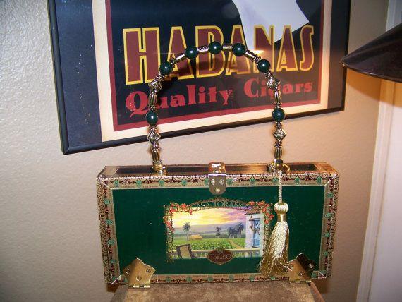 Carlos Torano Cigar Box Purse by Lovethecigarbox on Etsy