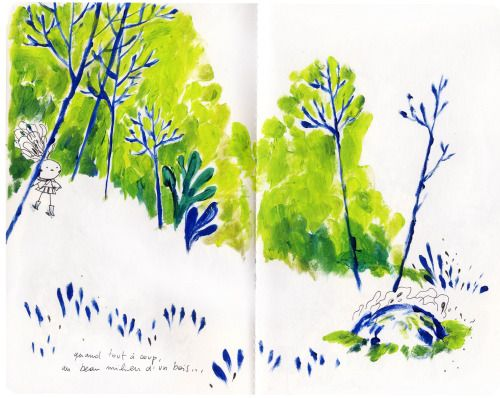 - L . - extracts from the sketchbook I made for Maud's...