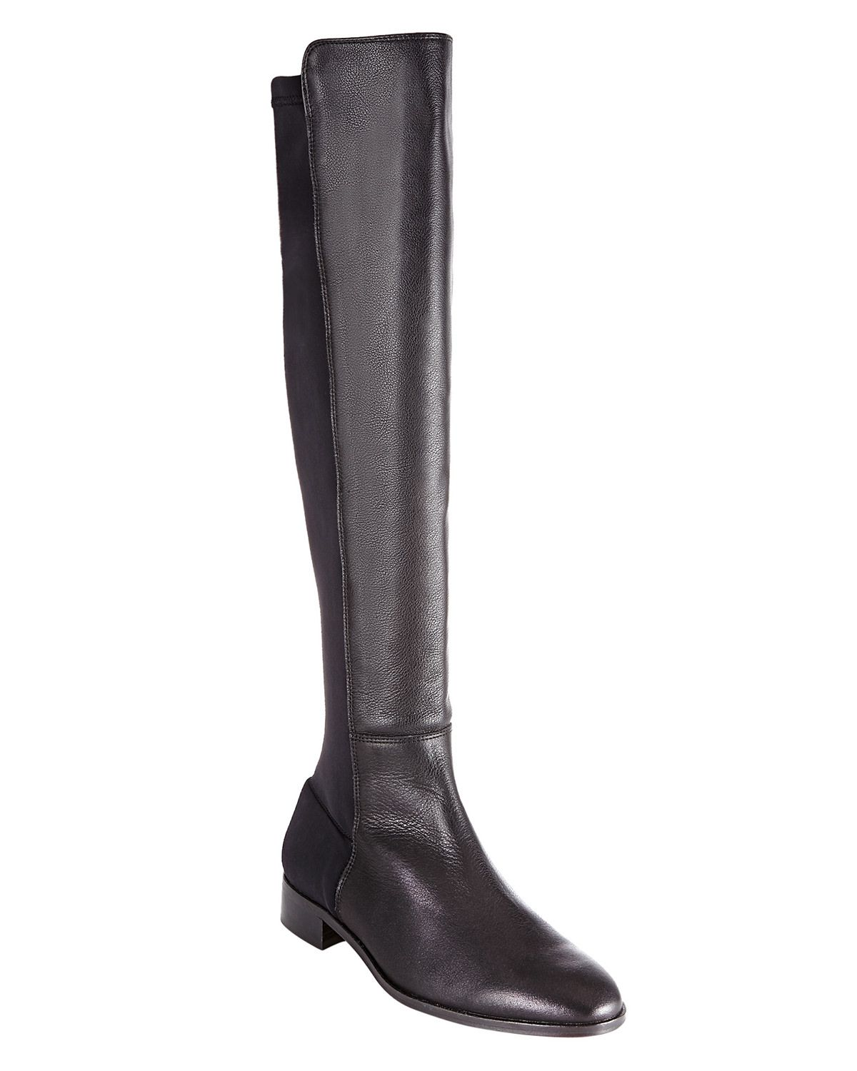 Shoes | Black Amber Stretch Long Boots | Phase Eight
