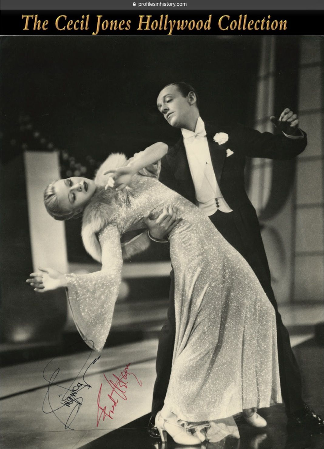 Ginger Rogers and Fred Astaire - Signed oversize production