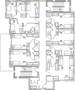 Stratford Heights Floor Plan Floor Plans Residence Hall University Of Cincinnati