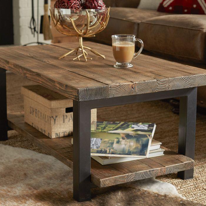 "Somers 42"" Wood Metal Coffee Table"