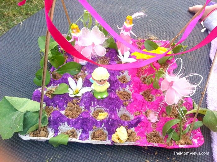 Egg Carton Craft A Fairy Garden Stuff For The Kiddies Pinterest