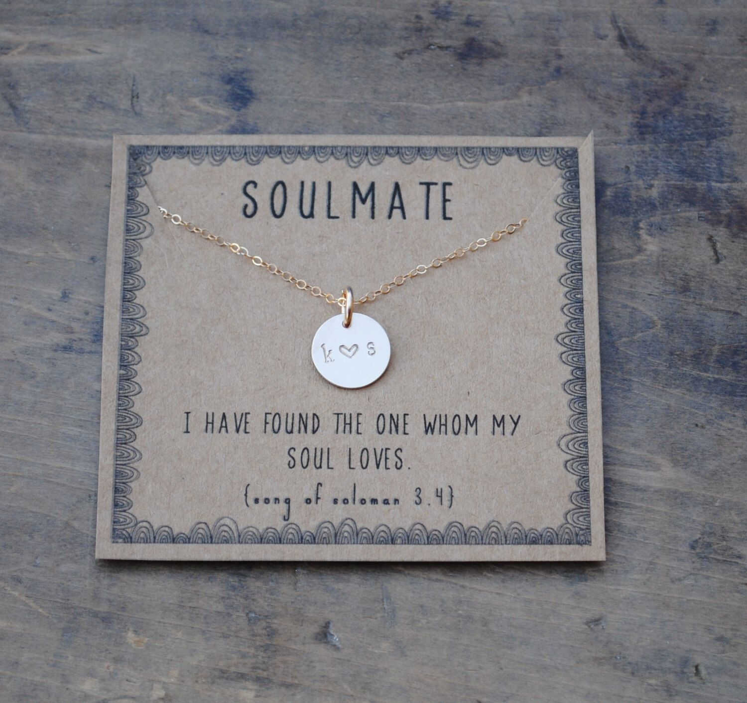 soulmate silver or goldfill layering necklace gift for girlfriend gift for wife personalized christmas gift by honeyverse on etsy