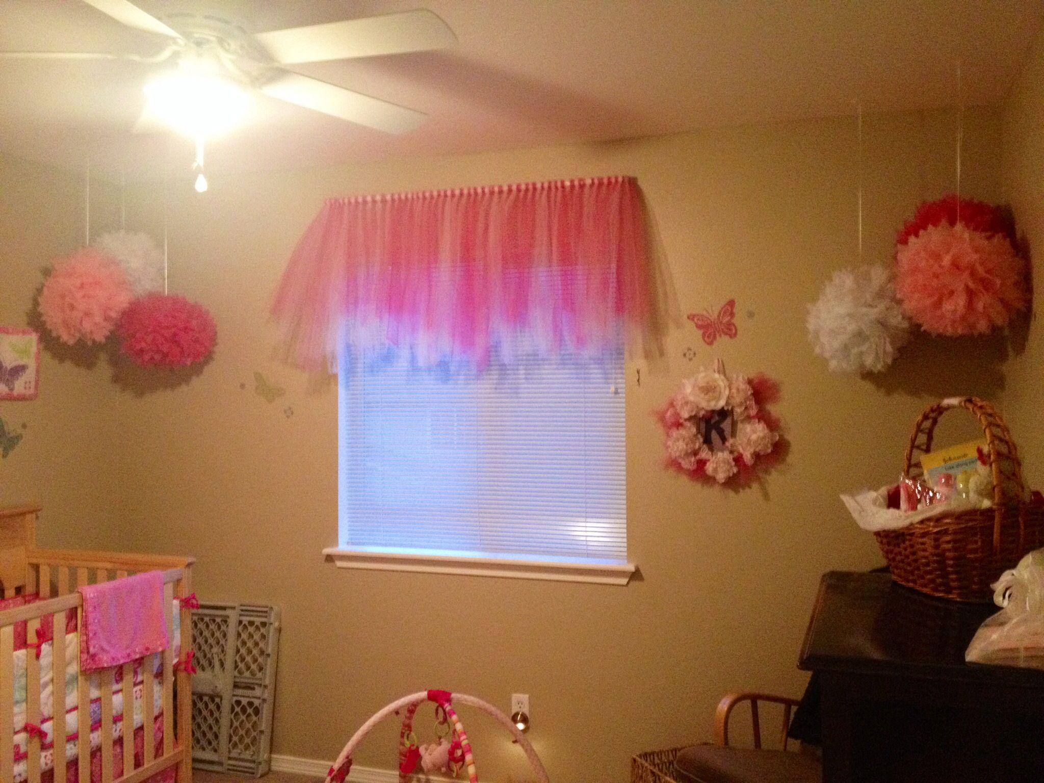 tutu curtain valance for little girls room my baby girl bedroom valances girls bedroom. Black Bedroom Furniture Sets. Home Design Ideas