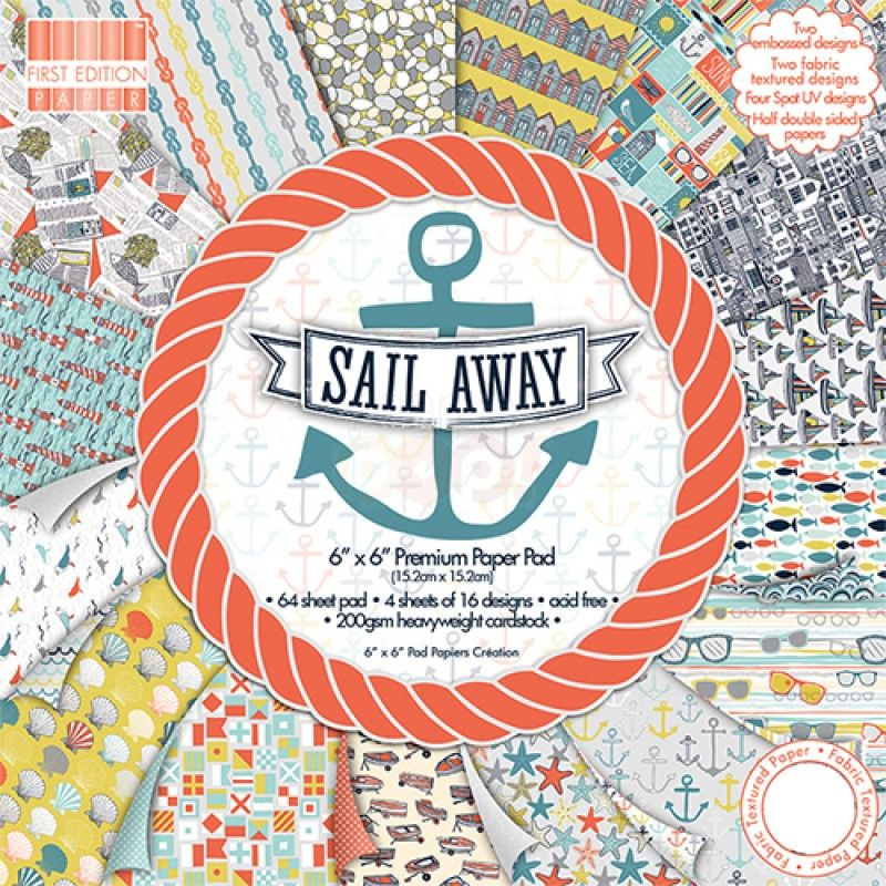 First edition paper pack pad sail away 6 x 6 paper