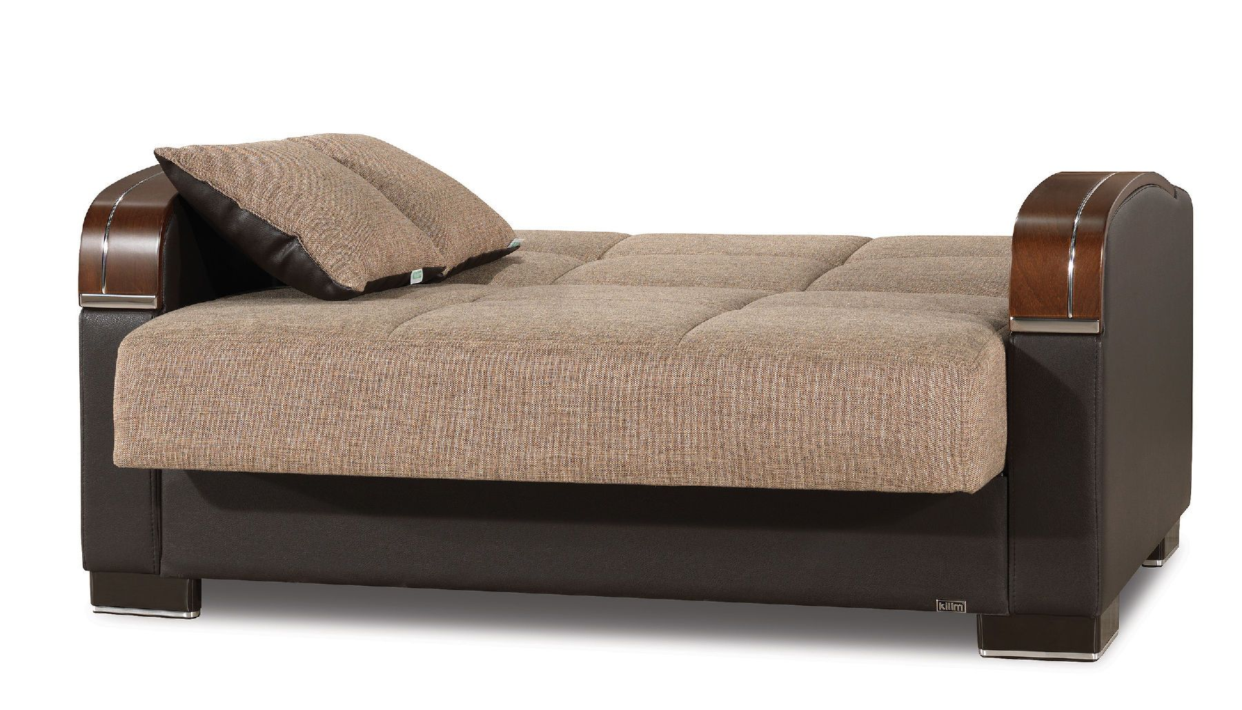Casamode Mobimax Brown Polyester Fabric Modern Sofa Bed W