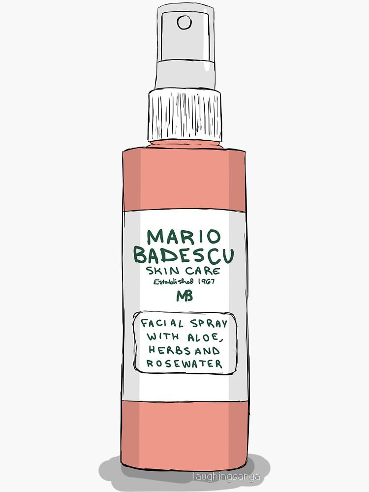 Mario Badescu Rose Spray Sticker By Laughingsanya In 2021 Mario Badescu Cute Laptop Stickers Preppy Stickers