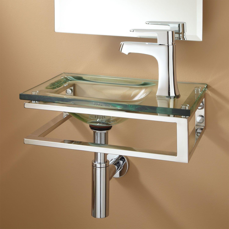 125 Bangor Wall Mount Glass Sink Wall Mount Sinks Bathroom Sinks Bathroom Glass Sink Glass Bathroom Wall Hung Sink