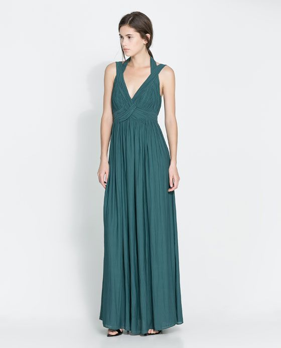 5526a219208 LONG GATHERED DRESS from Zara  139