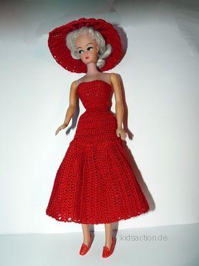 Barbie Crochet Puppen Kleid Petra Free Pattern Barbiekleidung