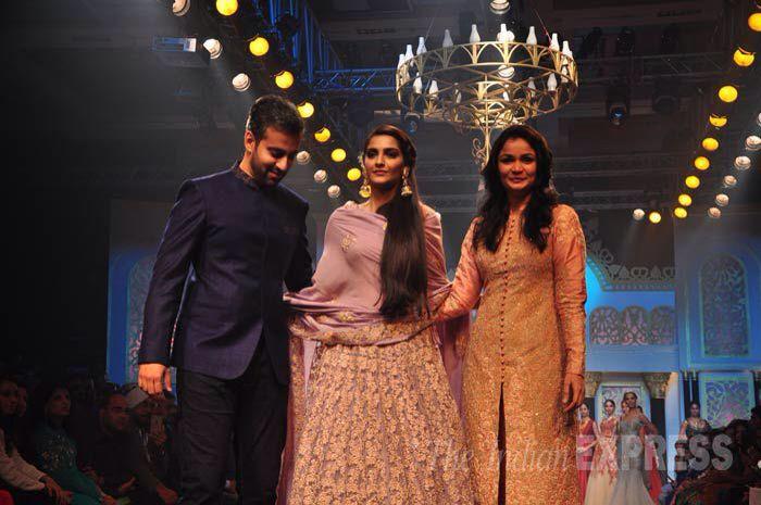 Sonam Kapoor walked the ramp on the last day of India International Jewellery Week in Mumbai on August 7.
