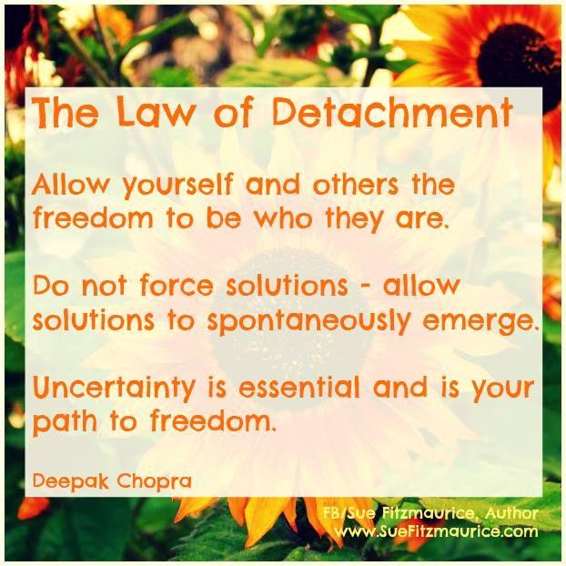 Deepak chopra law of detachment