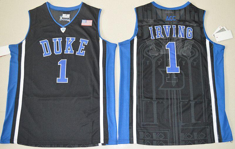 hot sale online e0f84 0d444 Duke Blue Devils 1 Kyrie Irving Jersey Black White Blue 1 ...