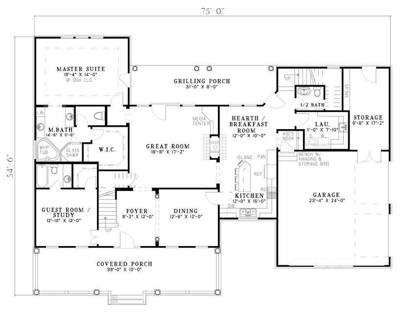 Brittany Lane House Plan version 2 two story, more bedrooms on
