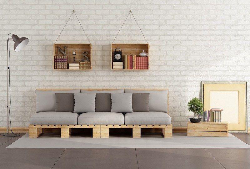 Meuble En Palette Interieur Et Exterieur 40 Nouvelles Idees A Embrasser Fabriquer Un Canape Meuble Palette Canape Palette