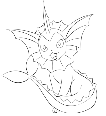 Pokemon Kleurplaten Vaporeon.Vaporeon Coloring Page Coloring Pages Pokemon Pokemon Coloring