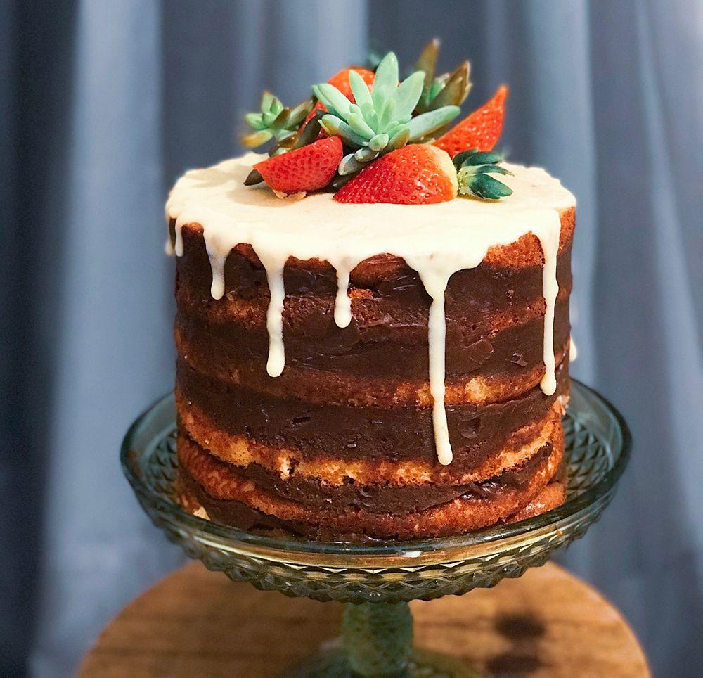 Naked Cake receita passo a passo