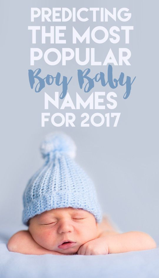 Predicting the Most Popular Boy Baby Names for 2017 (With ...
