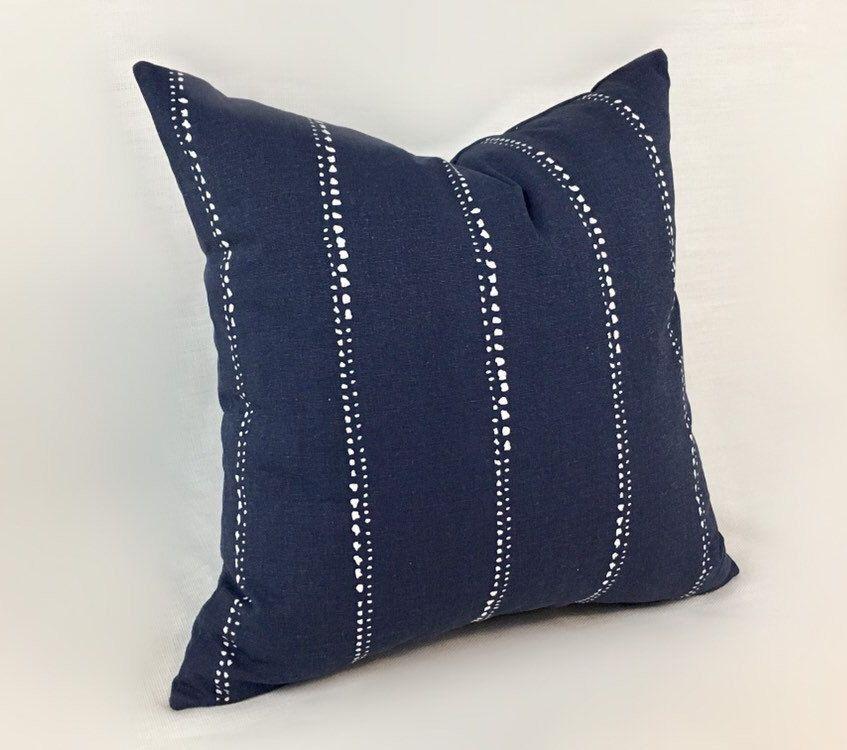 Navy Blue Accent Pillow Cover Blue Pillows Blue And White Pillows Navy Throw Pillow Navy Pillow Cover Accent Pillow 010 Blue Throw Pillows Blue And White Pillows Throw Pillow Cover Navy