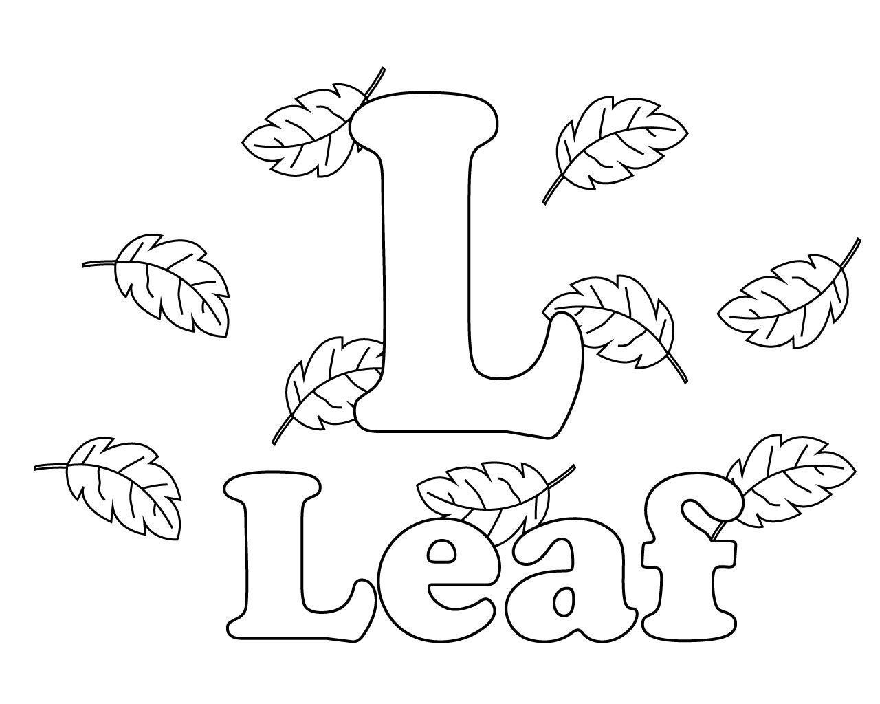 Free Letter L Coloring Pages You are free to download these ...