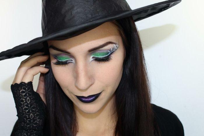 maquillaje de bruja un look completo para halloween hechicera clsica maquillaje glamoroso - Maquillaje Bruja